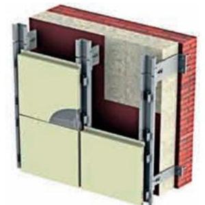 Способ крепления фасадных панелей-кассет